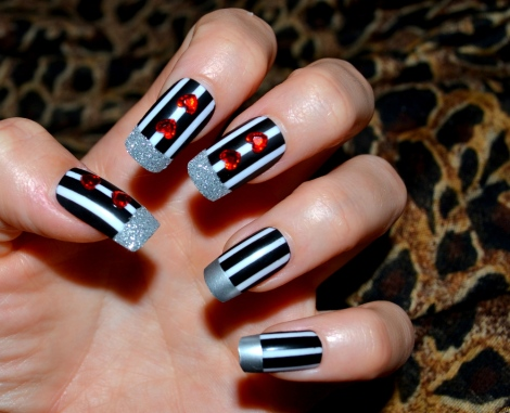 convict themed false nails