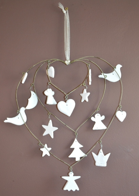3 Heart Hanging Christmas Decoration