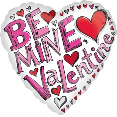 be my valentine foil balloon