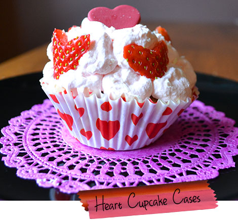 heart cupcake cases