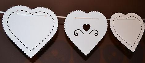 white heart bunting