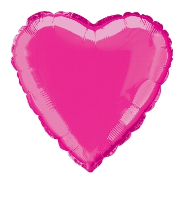 heart shaped pink foil balloon