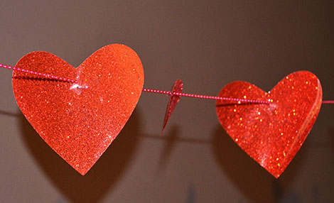 heart string Ceiling Decoration