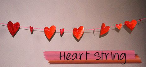 heart string decoration