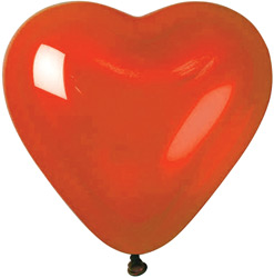 red latex heart balloon