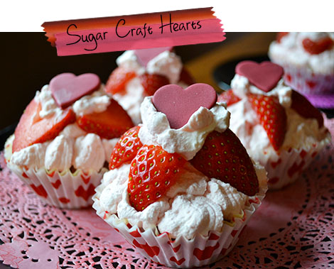 sugar craft hearts
