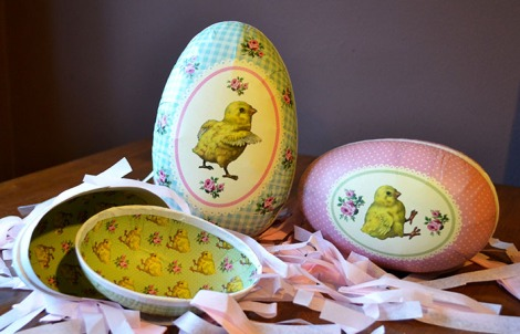Vintage Easter Egg Boxes