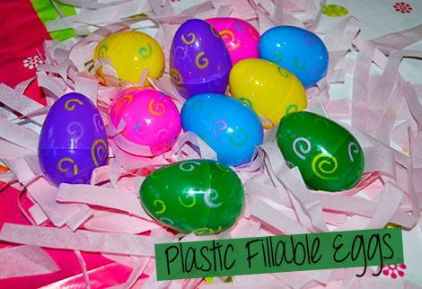 plastic fillable eggs
