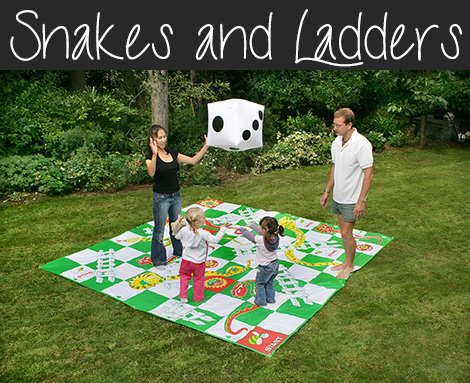 snakes and ladders giant garden game
